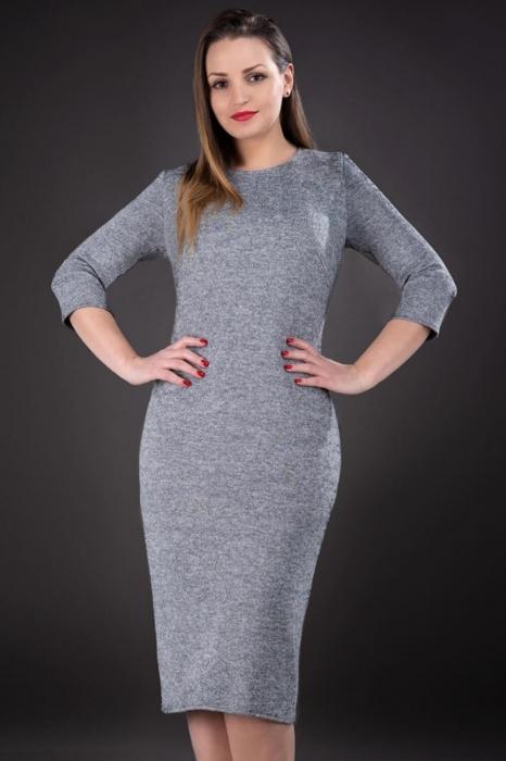Rochie din tricot marimi mari 44-58 Darla, gri 1