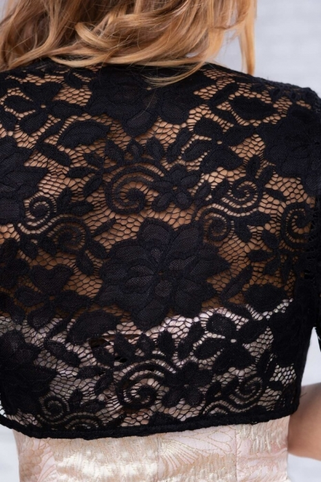 Bolerouri din dantela - Bolerou elegant din dantela marimi XXL negru