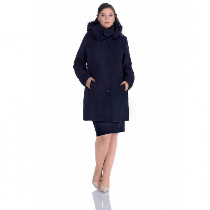 Palton cu gluga imblanita ZENOVIA, bleumarin 0