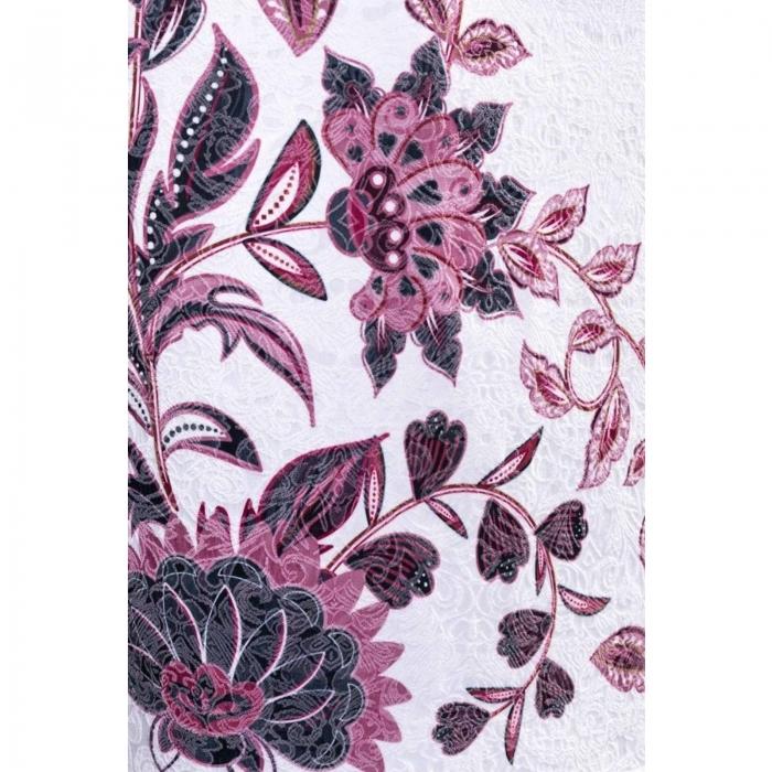Rochie de ocazie cu imprimeu floral Cristina, alb 3