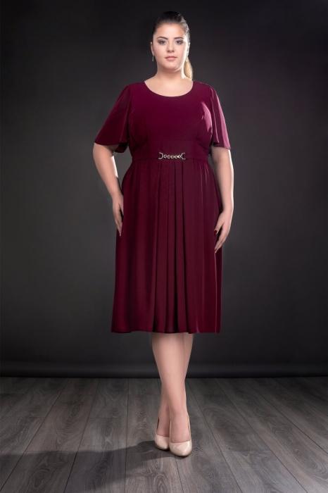 Rochie de ocazie din voal Lucinda marsala