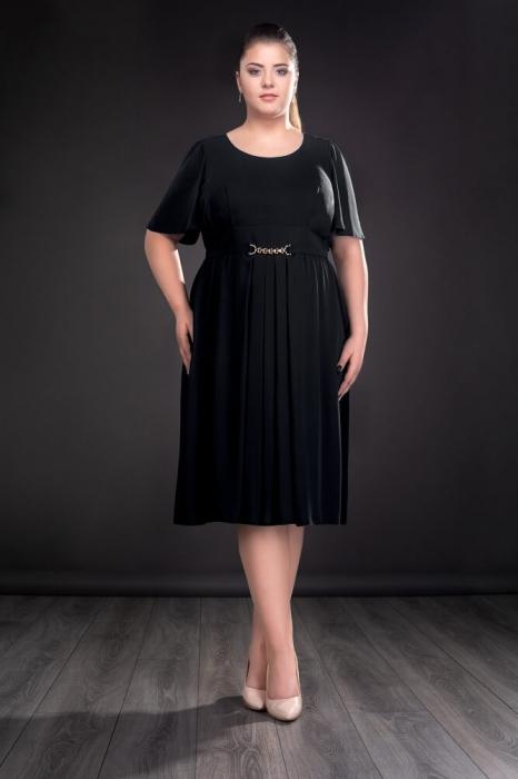 Rochii de seara doamne peste 50 ani - Rochie din voal Lucinda negru 0