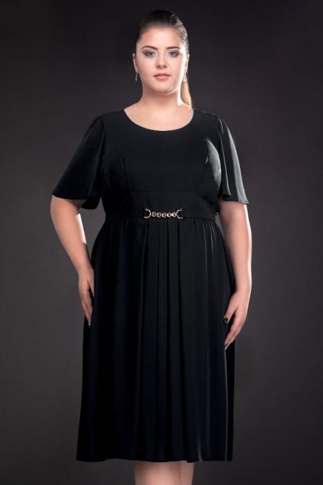 Rochii de seara doamne peste 50 ani - Rochie din voal Lucinda negru 1