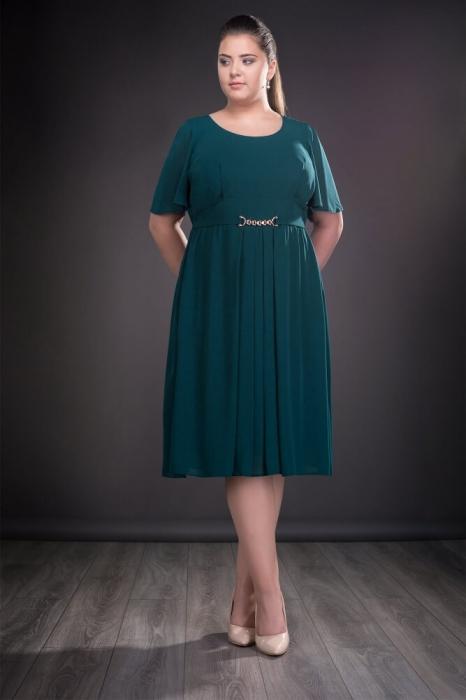 Rochie de ocazie din voal Lucinda verde