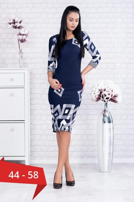 Rochie eleganta de zi marimi mari Samantha bleumarin 0