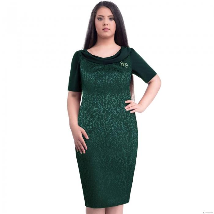 Rochii de ocazie-Rochii elegante XXL-Rochie XXL Dorina verde 1
