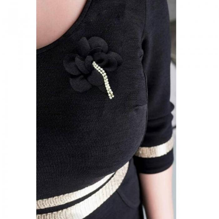 Rochie eleganta marimi mari Aniela, negru