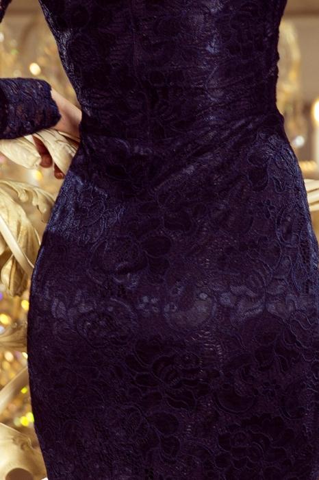 Rochii elegante din dantela - Rochie de ocazie din dantela Marina bleumarin 3