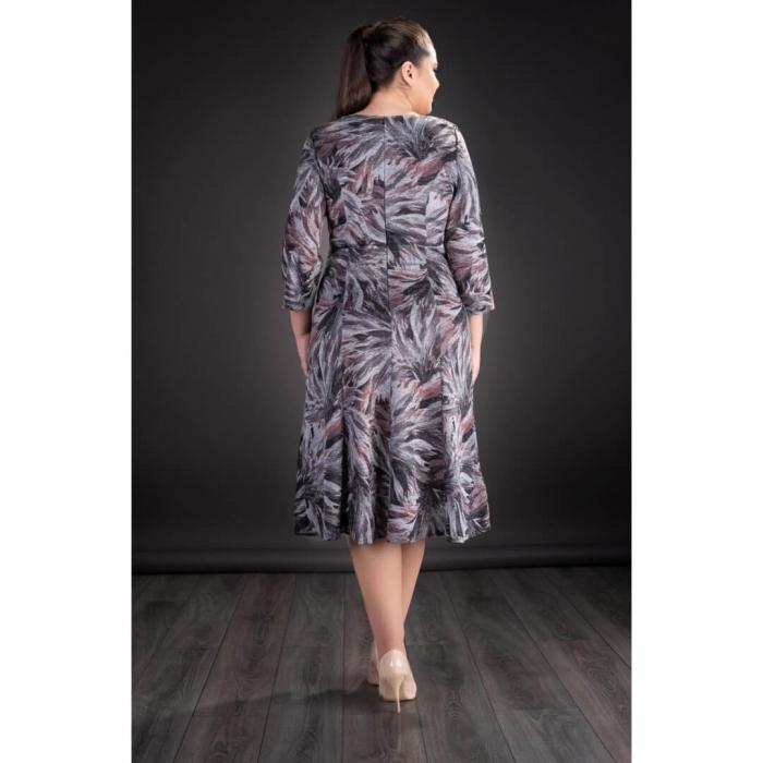 Rochii femei plinute - Rochie XXL din tricot imprimat Gina 2