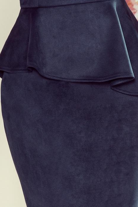 Rochie midi eleganta cu peplum Numoco, bleumarin 2