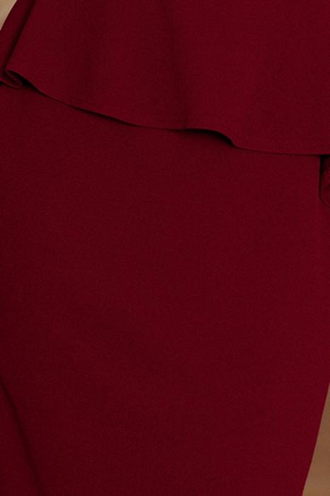 Rochii midi elegante - Rochie eleganta de ocazie cu peplum Numoco grena 3