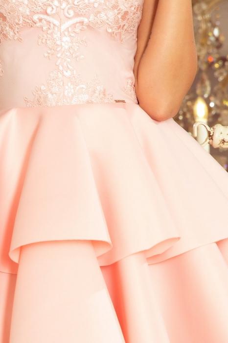 Rochii elegante scurte - Rochie scurta eleganta de seara Alexis roz pastel 3
