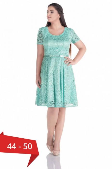 Rochii dantela ieftine pentru femei plinute - Rochie eleganta Sonia verde 0