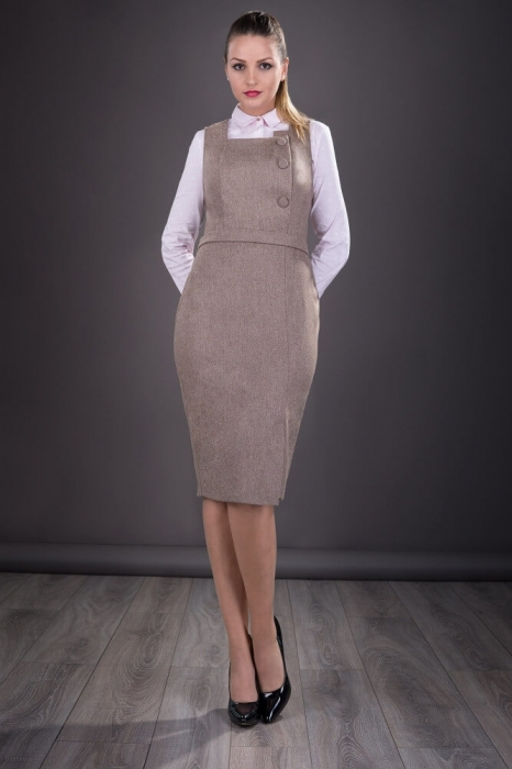 Sarafane elegante- Sarafan dama elegant Sofia, bej 0